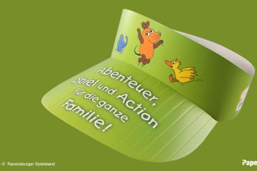 PaperCap® das Werbemittel für Freizeitparks, Großveranstaltungen und Kinderclubs