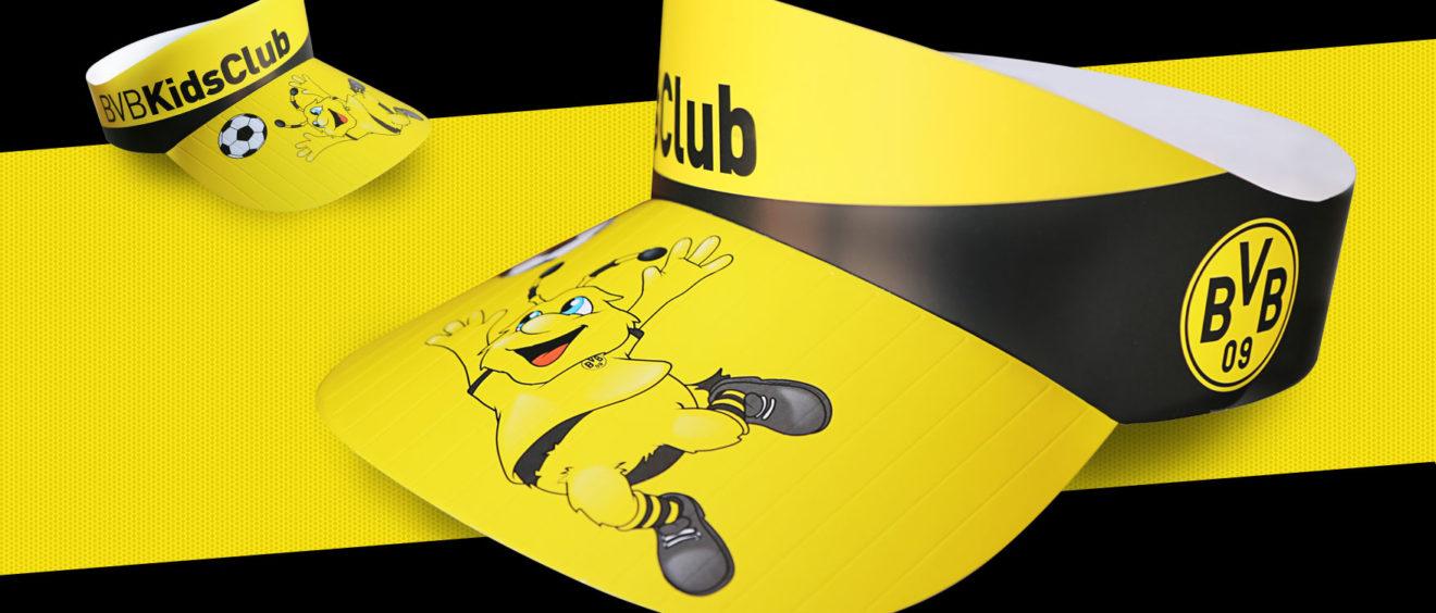 BVB PaperCap - Papier Schirmmützen bedrucken mit Ihrem Logo / Motiv